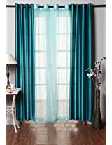 Homefab India Combo of 2 Plain & 1 Tissue Curtains(HF294)