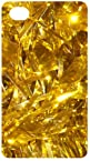 Golden Shinning Ornaments Silver Back Cover Bling Case for Apple iPhone 4 / 4S