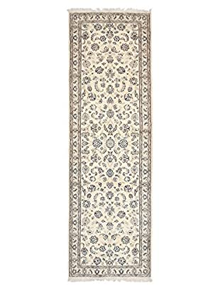 Darya Rugs Authentic Persian Rug, Ivory, 3' x 9' 7