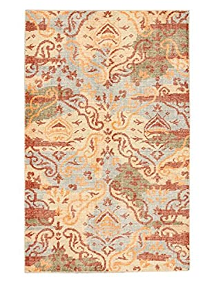 eCarpet Gallery One-of-a-Kind Hand-Knotted Jules Ushak Rug, Copper/Ivory, 5' 1
