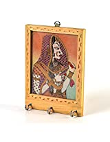 Jaipur Raga Rajasthani Gemstone Painting Key Holder Gift Decorative Item