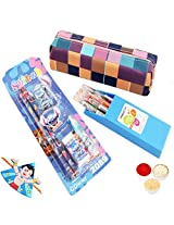 Pencil Case with Pens and Pencil Set