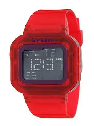 BY BASI A0971U02 - Reloj Unisex movi cuarzo correa policarbonato rojo/lila