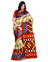 Araham Synthetic Saree(Bas004_Multi Color)