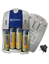 Nikon Coolpix L830 Digital Camera Battery Charger Replacement of 4 AA NiMH 2800mAh Rechargeable Batteries, with Charger