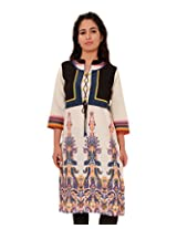 Adesa Women Cotton Kurti(Blue) (X-Large)