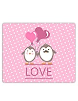 Lovely Collection Love Selfie Penguins Mousepad