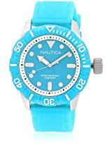 Nta09602G Blue/Blue Analog Watch