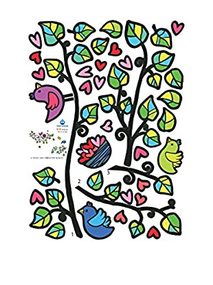 Ambiance Sticker Wandtattoo Birds On Tree And Hearts