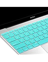 GMYLE Turquoise Blue Silicone Keyboard Cover Skain Protector (US Layout) for The New Macbook 12 inch with Retina Display (2015 version)
