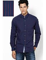 Blue Stripes Casual Shirts John Players