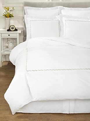 Westport Linens Scalloped Percale Duvet Set