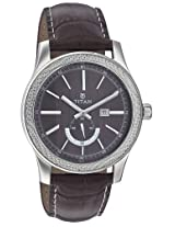 Titan Purple Analog Brown Dial Men's Watch - NE9386SL03J