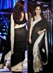 Madhuri Dixit Bollywood Black Saree