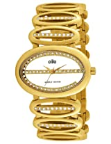 Elite analog Ladies dress White dial Women's watch - E51194G/101