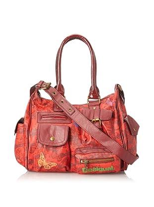 Desigual Handbags Bols Mariposas 31X5138 Satchel (Carmin)