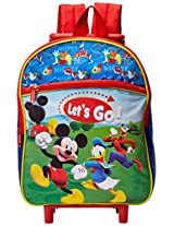 Disney Boys' Mickey Mouse Rolling Backpack, Multi, One Size