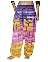 Famacart Women Tie dye Harem Pant Free Size yellow