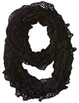 Betsey Johnson Women's Ruched Metallic Infinity Scarf
