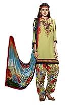 Kvsfab Light Green Pure Cotton Cambric Salwar Kameez