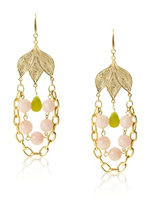 David Aubrey Estelle Chain and Dyed Jade Earrings