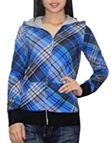 DC Womens Surf & Skate Reversible Hoodie Sweatshirt Jacket - Multicolor (Size: S)