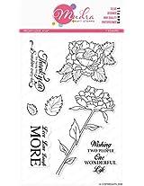 "Mudra Stamps - Peony Love - 6""X4"""