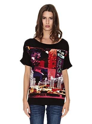 Peace & Love Camiseta Zhuhai (Negro)