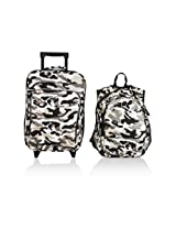 Obersee Kids Luggage and Backpack with Integrated Cooler, Camo