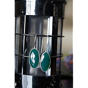 Gajgauri Silver Earring With Green Stone