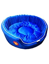 Dog Bed Medium Fancy in Blue