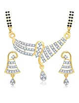 Sukkhi Fascinating Gold and Rhodium Plated Cubic Zirconia Stone Studded Mangalsutra Set for Women