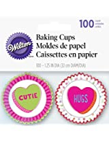 Wilton 100 Count Words Can Express Valentine's Baking Cups, Mini, Multicolor