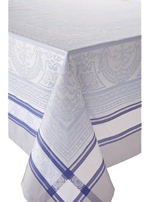 Garnier-Thiebaut Sully Table Cloth (Bleu Illusion)