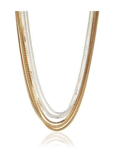 Tuleste Market Snake Multi-Strand Necklace, Gold/Silver