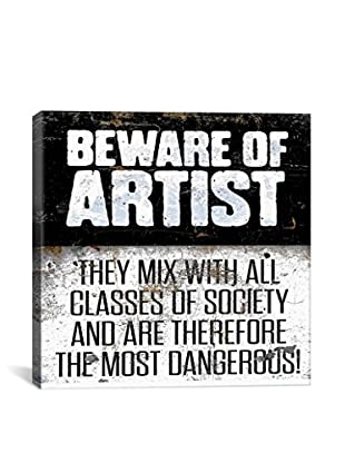Modern Art Beware of Artist Gallery Wrapped Canvas Print