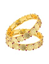 Mahi Eita Collection Gold Plated Divine Bangles for Women