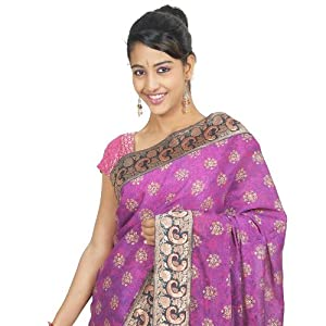 Peacock Border Saree - Half Saree Model