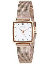 Skagen Strand Quartz Silver Dial Stainless Steel Rose Gold Women's Watch SKW2219