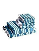 Skumars Love Touch Multi Stripe Towel Set - 8 Pcs - 430 GSM