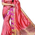 Multi Kanjivaram Plain / Solid Tassar Silk Saree With blouse piece