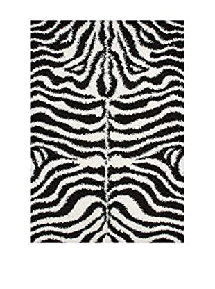 Chic Orange Alfombra Shaggy Zebre / Shaggy Motifs
