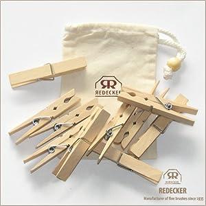 木の洗濯ばさみ10本とロゴ入りコットン袋のセット