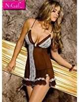 N Gal Brown Women Nightwear NG2224