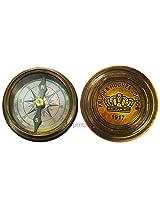 Nautical Vintage Kelvin & Hughes Brass Calendar Compass Antique Collectibles