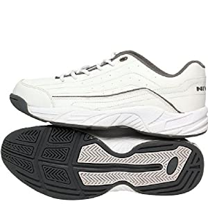 Nivia Zeal Tennis/Court Shoes, White With Grey 6