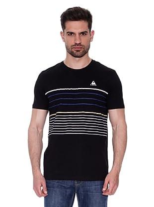 Le Coq Sportif Camiseta Mozo Tss (Negro)