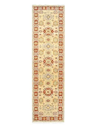 Hand-Knotted Royal Kazak Wool Rug, Dark Orange/Khaki, 2' 9