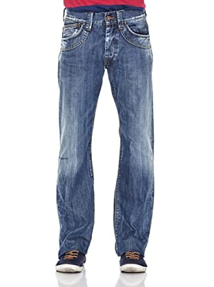 Pepe Jeans London Pantalón Vaquero Rivet (Azul Medio)