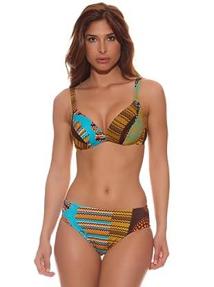Teleno Bikini Reductor Yasmin (Marrón)